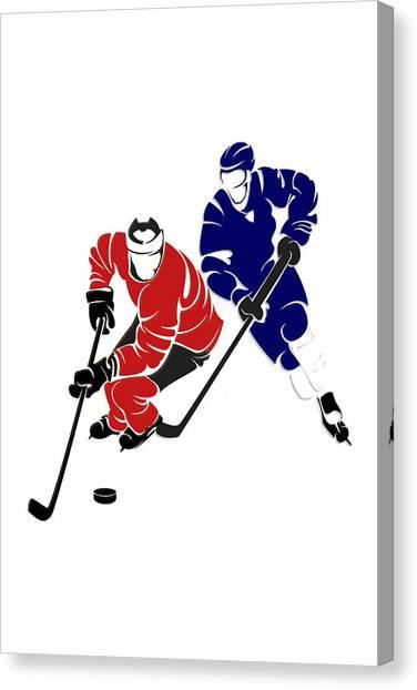 Toronto Maple Leafs Canvas Print - Rivalries Senators And Maple Leafs by Joe Hamilton