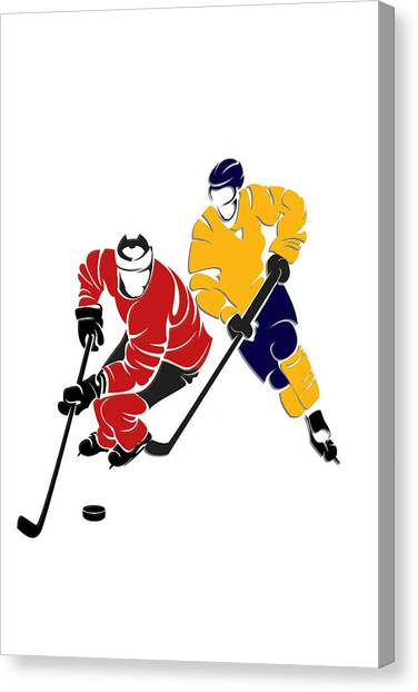Buffalo Sabres Canvas Print - Rivalries Senators And Sabres by Joe Hamilton