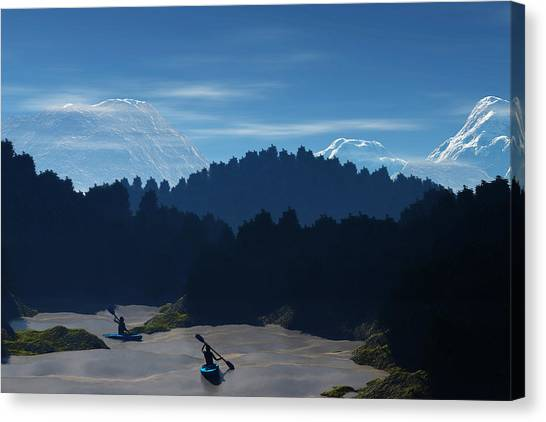 River Adventure Canvas Print