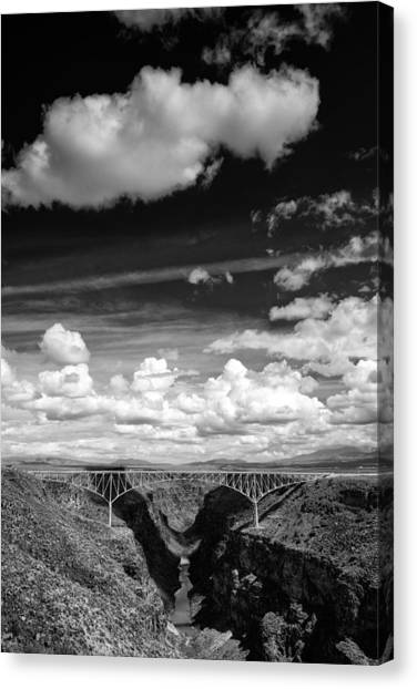 Rio Grande River Canvas Print - River And Clouds Rio Grande Gorge - Taos New Mexico by Silvio Ligutti