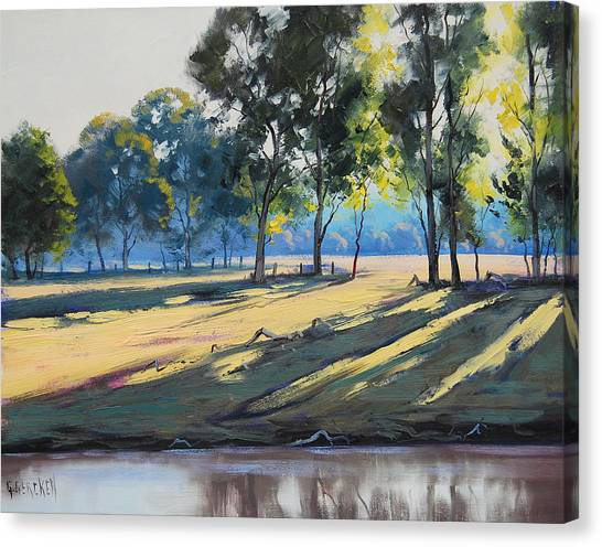 Brook Canvas Print - River Bank Shadows Tumut by Graham Gercken