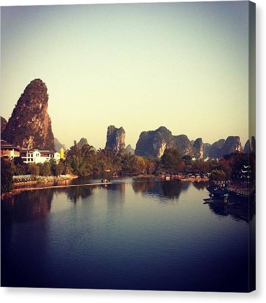 Karsts Canvas Print - #river #chine #china #water #mountain by Jonn Velasquez