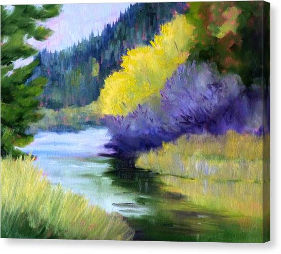 Soothing Canvas Print - River Color by Nancy Merkle