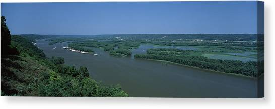 Marquette University Canvas Print - River Flowing Through A Landscape by Panoramic Images
