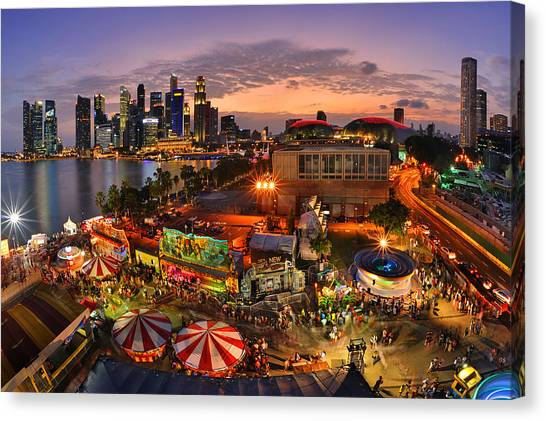 Chinese New Year Canvas Print - River Hong Bao 2015 Singapore by Fiftymm99