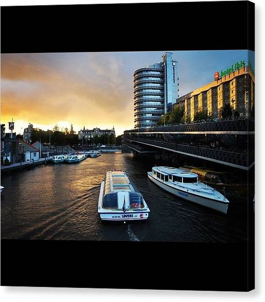 Ibis Canvas Print - River In Netherlands by Cynthia Puspasari Lesmana