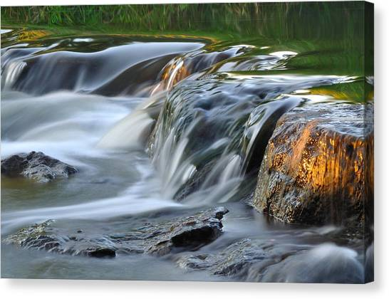 River In Slow Motion Canvas Print