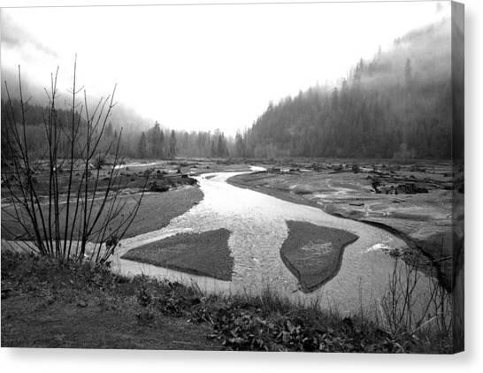 River In The Rain Canvas Print by Gordon  Grimwade