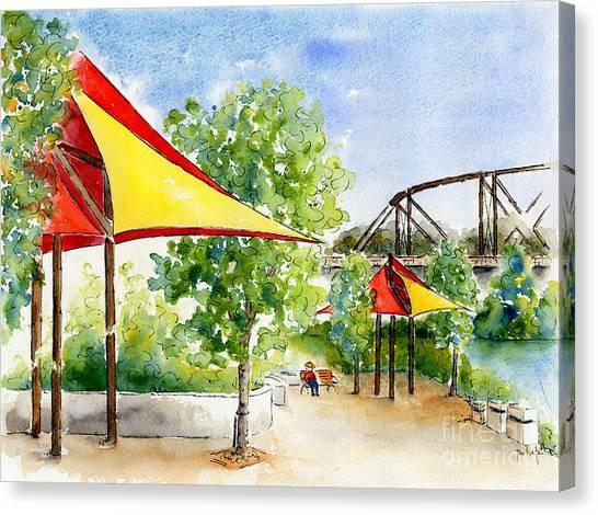 River Landing Canvas Print