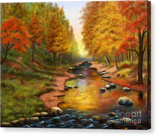 River Of Colors Canvas Print