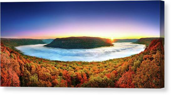 River Of Fog Canvas Print