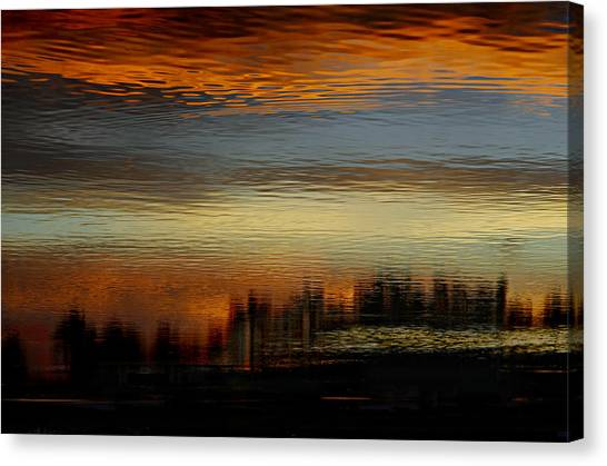 Cottage Style Canvas Print - River Of Sky by Laura Fasulo