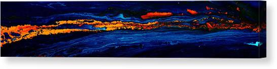 River Path Abstract Art Horizontal Fluid Painting By Kredart Canvas Print