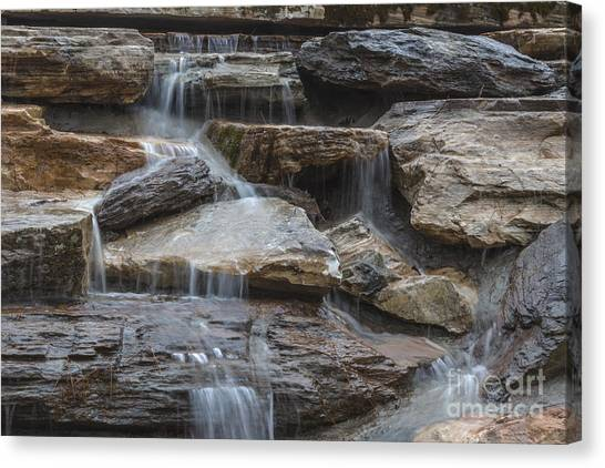 River Rock Waterfall Canvas Print