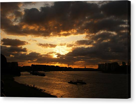 River Thames From Greenwich Canvas Print