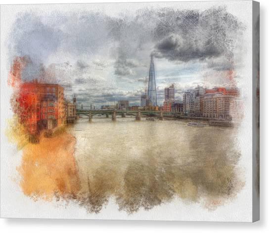 River Thames Canvas Print by Rick Lloyd