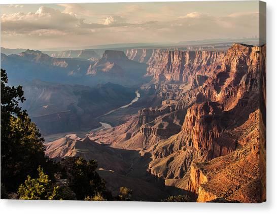 River Through Grand Canyon Canvas Print