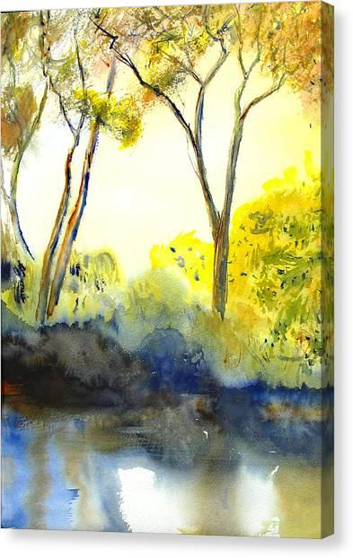 River Trees II Canvas Print