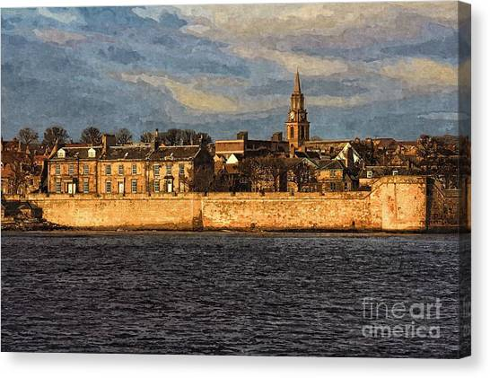 River Tweed At Berwick - Photo Art Canvas Print