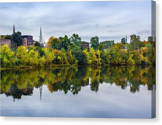 River View Of Brattleboro Vermont Canvas Print