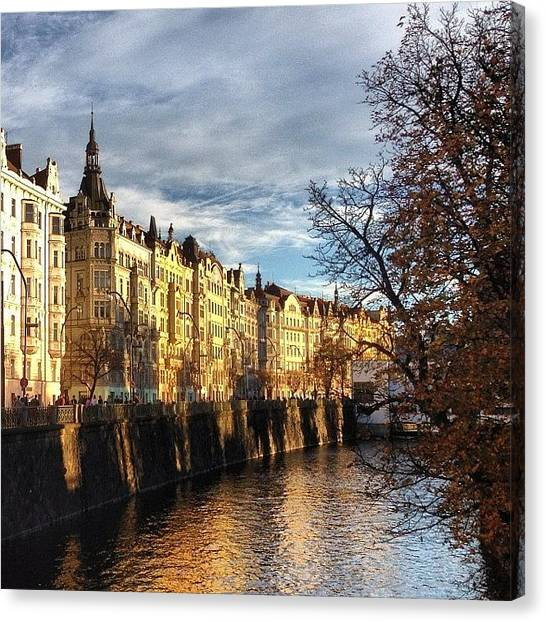 The Legion Canvas Print - #river #vltava #reflection #view by Aida Sheikholeslami