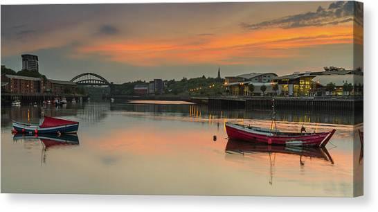 Sunderland Canvas Print - River Wear Sunset - Sunderland by Danny Birrell Photography