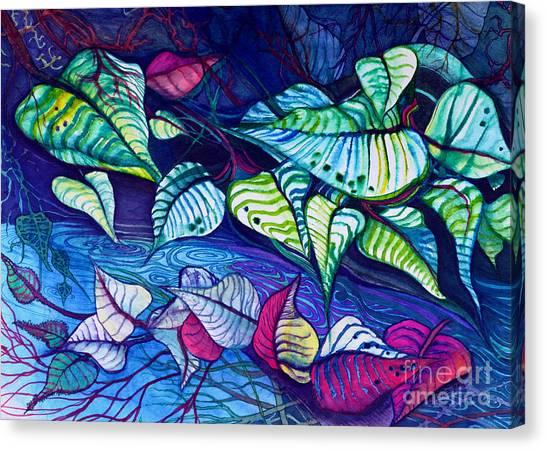 Riverbank Foliage Canvas Print