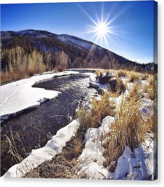 Idaho Canvas Print - Rivers Are Thawing And The Fish Are by Cody Haskell