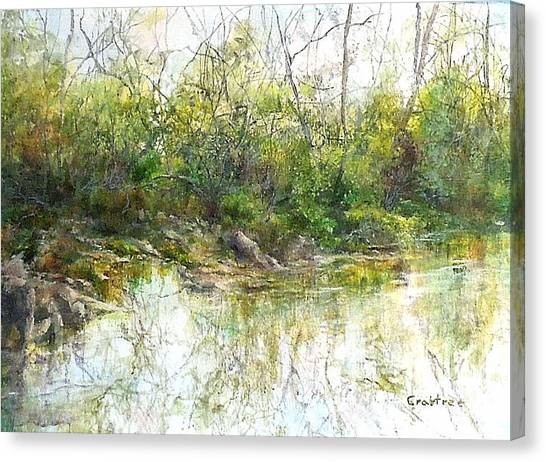 River's Edge Canvas Print by Elizabeth Crabtree