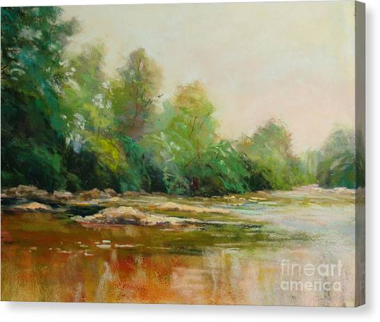 River's Edge Canvas Print by Virginia Dauth