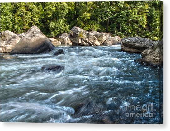 Rivers End Rapid On The Lower Yough Canvas Print