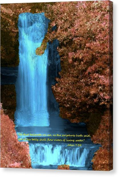 Rivers Of Living Water Canvas Print