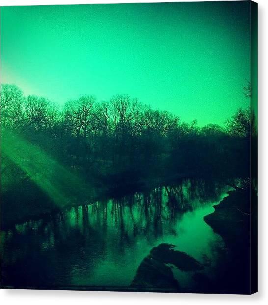 Rivers Canvas Print - Riverside In Riverside by Jill Tuinier