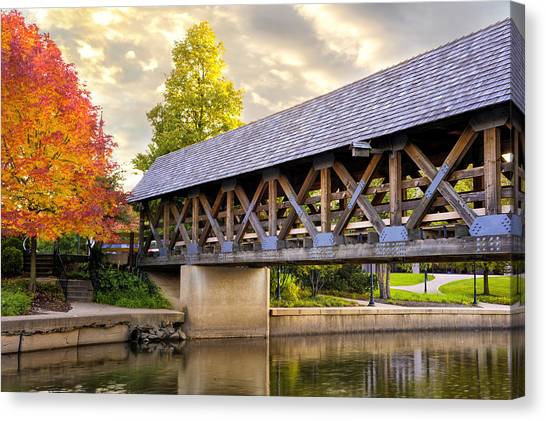 Riverwalk Footbridge Canvas Print