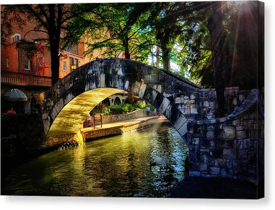 Riverwalk In The Sun Canvas Print