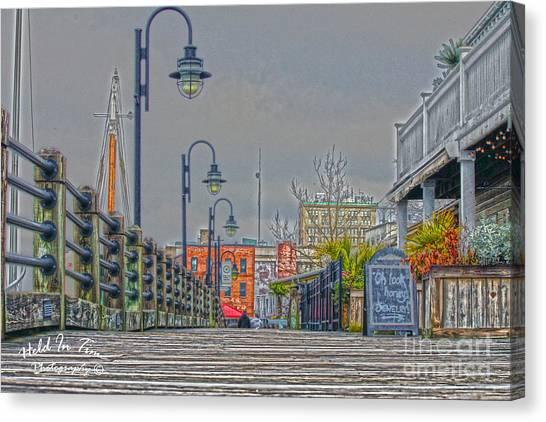 Riverwalk Canvas Print by Marie Kirschner