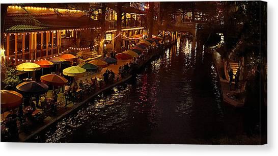 Riverwalk Night Canvas Print