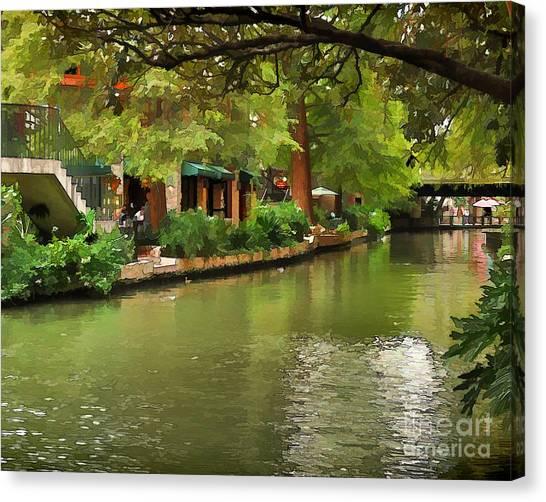 Riverwalk San Antonio Canvas Print