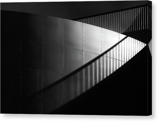 Light Rail Canvas Print - Rivets by Hans-wolfgang Hawerkamp