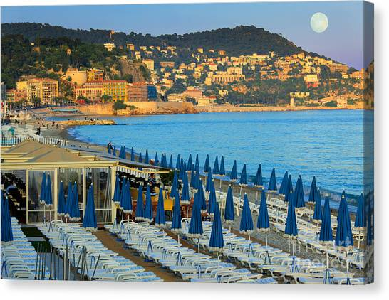 Europa Canvas Print - Riviera Full Moon by Inge Johnsson