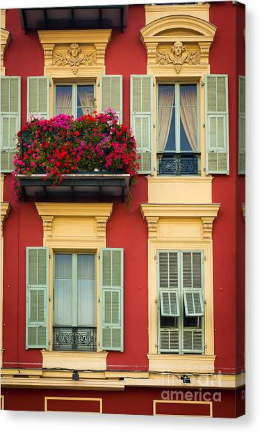 Europa Canvas Print - Riviera Windows by Inge Johnsson