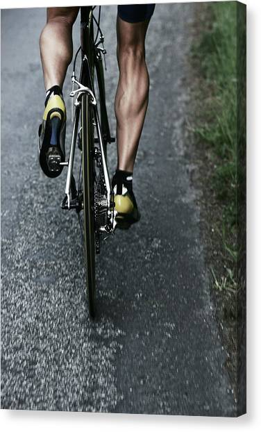 Road Bike Rider Canvas Print by Gibsonpictures