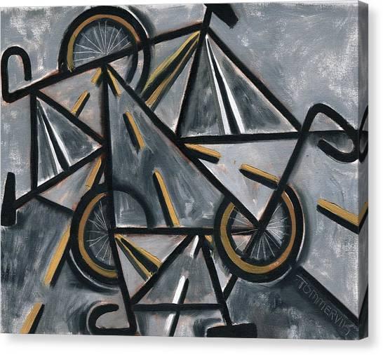 Tommervik Abstract Road Bikes Art Print Canvas Print
