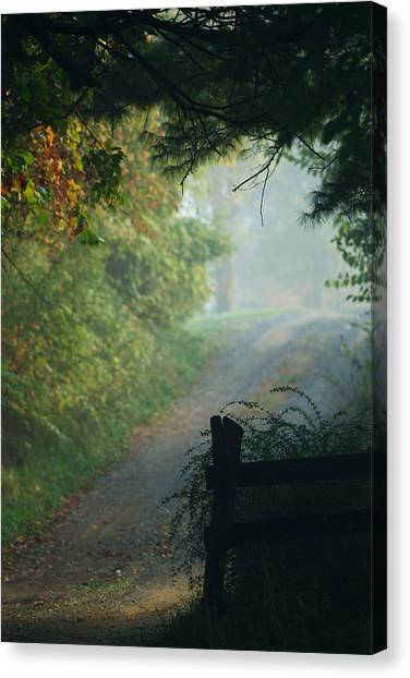Road Goes On Canvas Print