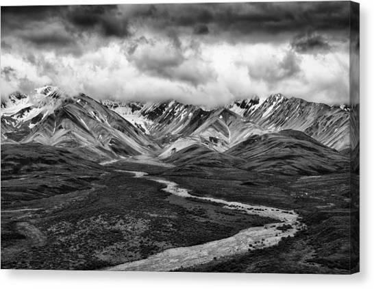 Denali Canvas Print - Road Less Traveled by Mike Lang