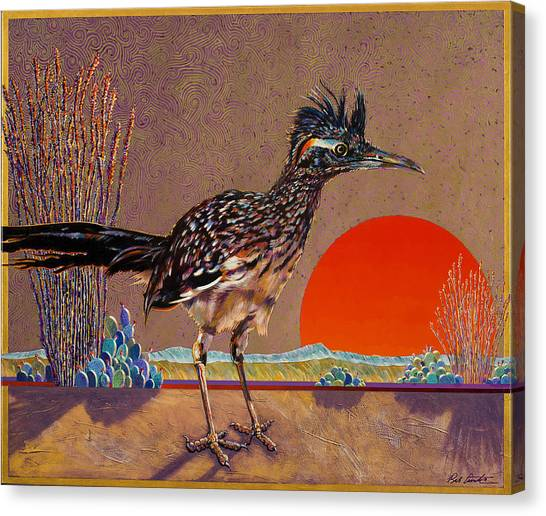 Road Runner At Sundown Canvas Print