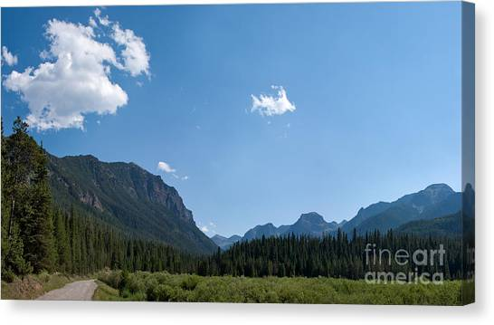 Road Through Hyalite Canyon Canvas Print
