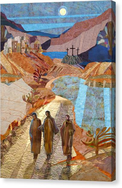 Jerusalem Canvas Print - Road To Emmaus by Michael Torevell
