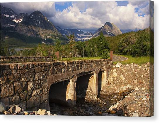 Salamanders Canvas Print - Road To Many Glacier by Mark Kiver