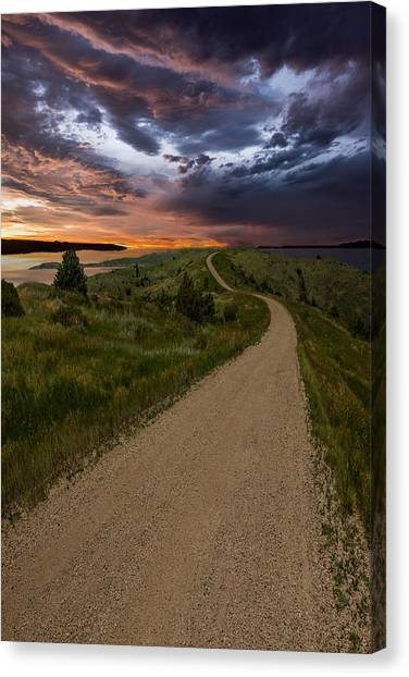 Road To Nowhere - Stormy Little Bend Canvas Print